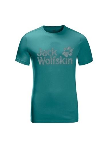 Jack Wolfskin Wolf Logo Erkek T-Shirt - 5022191-4078 Yeşil